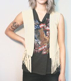 Fringed Suede Vest Sasson Women's Leather Vest by Felonwood