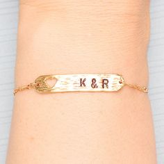 Gold Plated, Simple Heart Silhouette Rounded Edge Brushed Bar Connector Charm, Bracelet on Etsy, $13.00