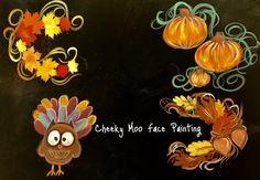 #facepainting #turkey #thanksgiving #cheekymoofacepainting #autumn #leaves #pumpkin #fall