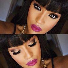 Maquillaje de noche para piel morena