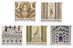 Martin Ramírez's work honored on Forever stamps Hieronymus Bosch, Wedding Invitation Inspiration, First Day Covers, Graphite Drawings, Envelope Liners, Popular Culture, Northern California, Paper Goods, Postage Stamps