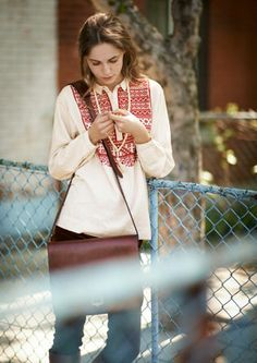 Cross-stitch peasant blouse | Toast