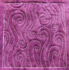 The Free Motion Quilting Project: Day 152 - Trailing Spirals