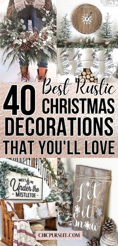 The best rustic Christmas decor ideas and rustic farmhouse Christmas decor ideas. If you want to create a cozy space, have a look at these rustic Christmas decorations living room, DIY rustic Christmas decor, modern farmhouse Christmas decorations living room, rustic Christmas tree ideas, as well as DIY rustic Christmas wreaths, DIY rustic Christmas centerpieces, outdoor rustic Christmas decorations and country Christmas decorations. #rustic #christmas #rusticchristmasdecorations… Cottage Christmas, Christmas Décor, Christmas Bedroom, Farmhouse Christmas Decor, Country Christmas, Christmas Recipes, Christmas Ideas, Christmas Wreaths, Diy Christmas Decorations For Home
