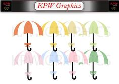 Pastel Umbrellas Clip-art Set 3 in a PNG format. Personal & Small Commercial use Clipart Images, Umbrellas, Commercial, Pastel, Clip Art, Trending Outfits, Digital, Photography, Etsy
