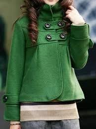 Green pea coat : La vida en verde!