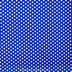 Happy Dots - Kiss Dot Cobalt Yardage - Michael Miller Fabrics - Michael Miller