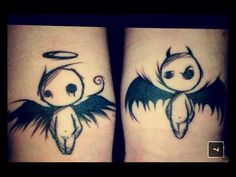 #angel & #devil #tattoo #angelanddevil