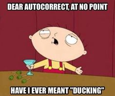 never meant ducking