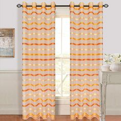 Sheers to be the bottom layer of my window covering + wall decoration behind the bed, paired with the red/gold curtains.  Amazon.com: Bedford Home Arla Grommet Single Curtain Panel, 84-Inch, Lite/Dark Orange: Home & Kitchen