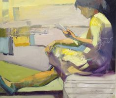 Melinda L. Cootsona - Melinda Cootsona at Seager Gray Gallery showing Act Two and oil abstract figurative painting.