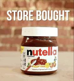 home made nutella recipe Or. Just buy some f**king Nutella. Homemade Nutella Recipes, Milk Recipes, Indian Food Recipes, Vegan Recipes, Cooking Recipes, How To Make Nutella, Make Your Own Chocolate, Nutella Store, Marie Biscuit Cake