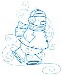 Enchanted Snowman 5 - 3 Sizes! | Winter | Machine Embroidery Designs | SWAKembroidery.com Sealed With A Stitch