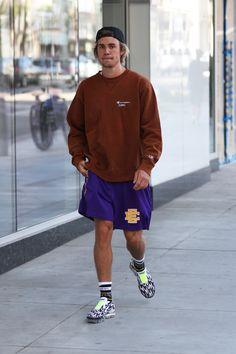 Justin Bieber jogs in Beverly Hills after secret Coachella performance Justin Bieber 2018, Justin Bieber Outfits, Justin Bieber Style, Justin Hailey, Coachella, My Idol, Street Wear, Celebs, Celebrities