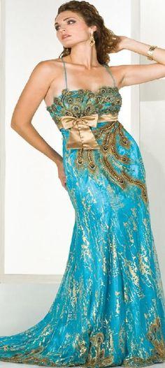 Peacock Wedding Dress | Peacock Wedding Dress | Moroccan Caftan
