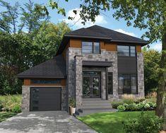 Avec son joli porche, sa fenestration abondante et son revêtement d'aluminium, de pierres et de bois, cette maison à étage a fière allure. Elle mesure 38 pieds 2 pouces de largeur sur 32 pieds de profondeur et possède une surface habitable de 1 468 pieds carrés. Elle dispose également d'un garage de 312 pieds carrés pouvant loger une voiture. <br/>  Au rez-de-chaussée, dont les plafonds font 9 pieds de haut, l'espace de vie de 734 pieds carrés comprend un vestibule fermé, une salle d'eau…
