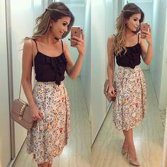 Ver esta foto do Instagram de @arianecanovas • 5,794 curtidas Fashion Moda, Skirt Fashion, Fashion Outfits, Womens Fashion, Classy Outfits, Casual Outfits, Cute Outfits, Urban Chic, Cute Dresses