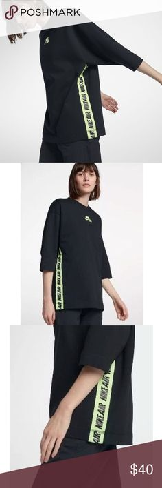 Nike Sportswear Oversized Top Air Logo Size XS Brand new with tags. Nike Tops