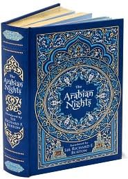 The Arabian Nights - Full of mischief, valor, ribaldry, and romance, The Arabian Nights has enthralled readers for centuries. These are the tales that saved the life of Shahrazad, whose husband, the king, executed each of his wives after a single night of marriage. Beginning an enchanting story each evening, Shahrazad always withheld the ending: A thousand and one nights later, her life was spared forever.