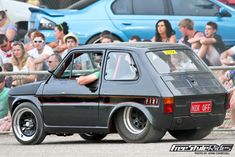 This may be an Australian car. It's a Fiat 126 with a Holden 5 liter V8 shoehorned under the hood.