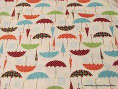Flannel Fabric  Umbrellas  1 yard  100% Cotton by SnappyBaby