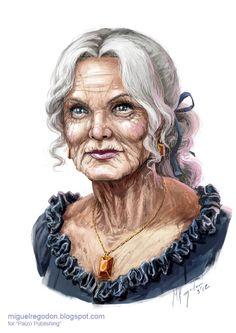 Old Noblewoman by Miguel Regodon