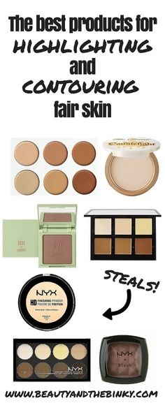 The Best Contouring Makeup for Fair Skin | Beauty and the Binky blog | makeup, beauty, highlight and contour, hc, fair skin, makeup tricks, splurge vs steal, @nyxcosmetics, @abhcosmetics, @toofaced, @itcosmetics, @pixibeauty, @makeupforeverww, @urbandecay