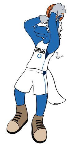 NBA Mascots - Champ the Maverick by Bleuxwolf on DeviantArt
