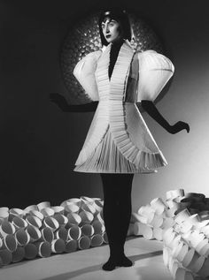 paper dress - jum nakao. With this one I like the folded pelted and how it goes off in different directions