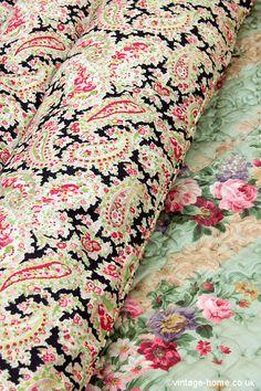 Vintage Home Shop - Pretty Paisley Eiderdown: www.vintage-home.co.uk