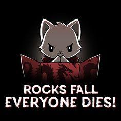 Rocks Fall, Everyone Dies! from TeeTurtle Cute Animal Drawings, Cartoon Drawings, Cute Drawings, Small Drawings, Disney Drawings, Cute Animal Quotes, Funny Animals, Cute Animals, Rock Falls