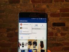 Instagram propose de changer rapidement de compte sur Android