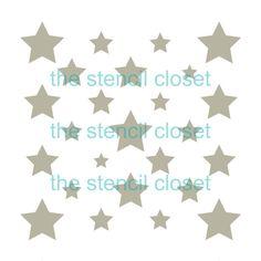plantilla de múltiples estrellas 12 x 12 por TheStencilCloset
