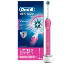 Buy Oral-B Pro 2000 Electric Toothbrush Powered by Braun – Pink at Argos.co.uk - Your Online Shop for Electric toothbrushes, Dental care, Health and beauty.