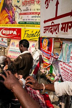 Barber shop at Kumbh Mela, Allahabad,