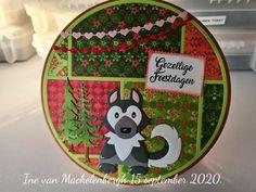 Marianne Design, Circles, Husky, Christmas Cards, Van, Layout, Kids Rugs, Holidays, Home Decor