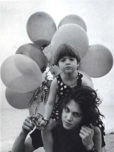 Johnny Depp and niece Megan by Bruce Weber