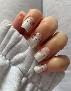 Cute Halloween Nails, Halloween Nail Designs, Holloween Nails, Halloween Acrylic Nails, Fall Nail Art Designs, New Nail Art Design, Pretty Nail Designs, Acrylic Nail Designs, Easy Halloween