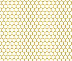 WhiteGoldenHoneycomb fabric by mrshervi on Spoonflower - custom fabric for linen closet walls