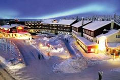 Crazy Reindeer Hotel in Levi...went here to take chocs & note to Rowena,' Swampy' & friends Feb 2014