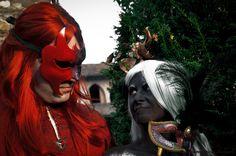 Heldursvart and Tyala from Leodhrae http://www.aurorafilippi.com/  Photo by: Francesca Solari https://www.facebook.com/Francesca-Solari-Photography-454269394624161/ Location: Grazzano Visconti (Italy) #leodhrae #fantasy #costume #cosplay #book #novel #fairyland