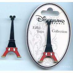 Walt Disney Pins, Trading Disney Pins, Value Of Disney Pins | PinPics Disneyland Paris Eiffel Tower Collection Mickey