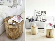 Building & Decor SA facebook page Tree stump as end table...throw a coat of clear coat over :) love!!!