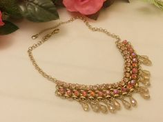 Vintage Rhinestone Watermelon  Crystal Gold by TheJewelryCabinet, $32.50