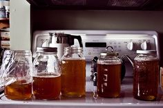 Kombucha~The fizzy nourishing elixir. So easy to make, so easy to drink.  Add some fruit and it's like natures original soda.  With pro-biotics, vitamins and other happy nutrients.
