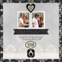 It Had To Be You Divine Wedding Day Planning Addition Scrapbook Layout Page Idea