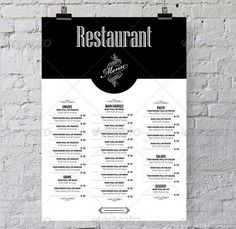VINTAGE RETRO MENU MINIMAL - Google Search