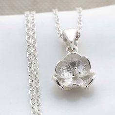 silver blossom necklace by martha jackson | notonthehighstreet.com