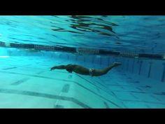 Under water dolphin kick drills