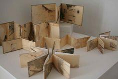 Alice Fox - Spurn Point Artist In Residence 2012 Handmade Journals, Handmade Books, Handmade Art, Concertina Book, Accordion Book, Up Book, Book Art, Kirigami, Alice Fox
